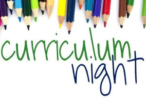 Curriculum Night this Thursday, September 20th, 2018